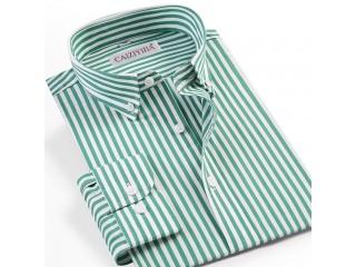 Men Pinpoint Striped Dress Shirt