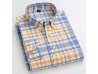 Plaid Cotton Fashion Patterned Shirt
