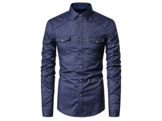 Spring Cotton Long Sleeved Shirt