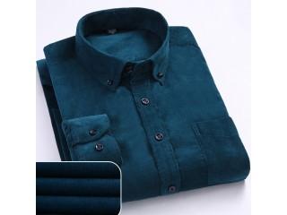 Spring Classic Cotton Corduroy Shirt