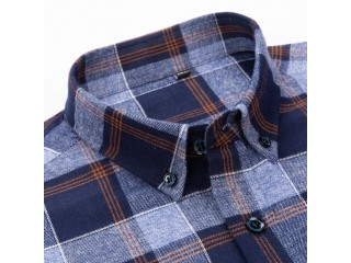 England Style Checkered Cotton Shirts