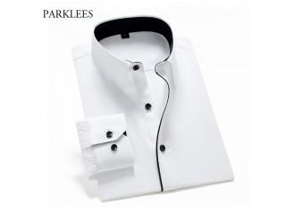 Men Business Wedding Twill Shirt