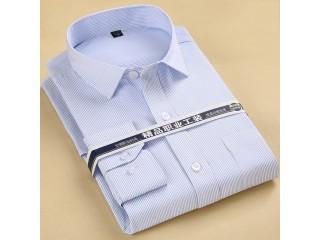 Men Striped Business Formal Shirt