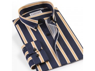 Holiday Men Striped Dress Shirt