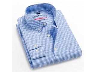 Long Sleeved Plaid Dress Shirts