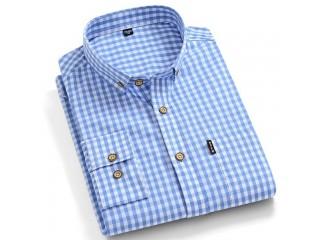 100% Cotton Checkered Dress Shirt