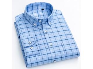 Fashion Brushed Checkered Plaid Shirt