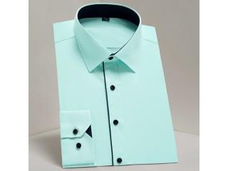 Classic Solid Basic Dress Shirts