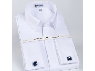 Men Dress French Cuff Shirt