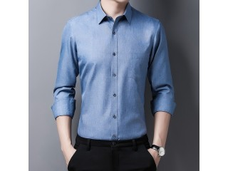 Male Lapel Long Sleeve Shirt