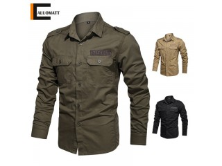 100% Cotton Spring Army Shirts