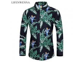 Flower Printing Shirts Mens Fashion
