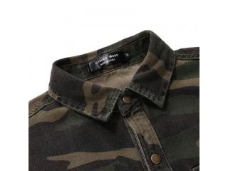 Casual Camouflage Denim Shirt