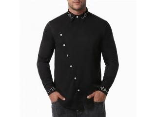 Stylish Irregular Embroidery Shirt