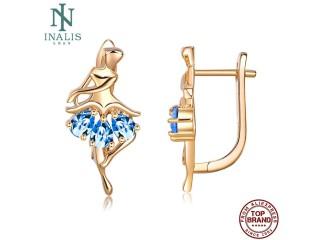 Women Earrings Ballet Stud Earring