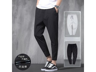 Korean Ice Silk Elastic Trousers