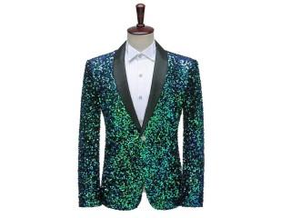 Bling Glitter Blazer Stage Costumes