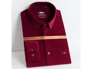 Solid Corduroy Cotton Shirt