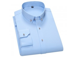 Luxury Solid Dress Shirt