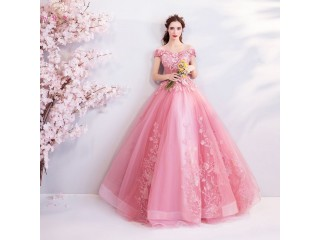 Appliques Prom Dresses Ball Gown