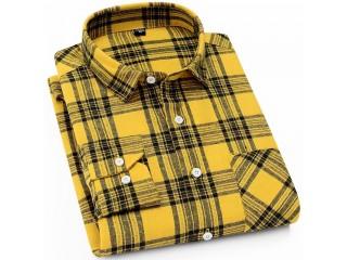 Men Brushed Checkered Shirts