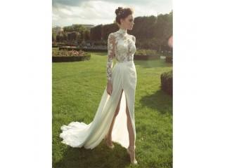 Boho Wedding Dresses Chiffon Bride D ress