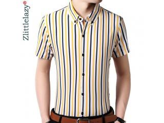 Vertical Striped Men Shirt Formal Fashions Shirts