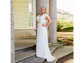 Chiffon Beach Bridal Gown