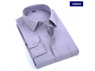 Men's Dress Shirt Solid Color Long Sleeved Shirt