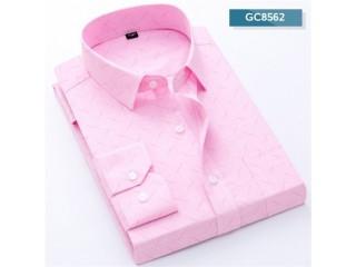 Men Shirt Plaid Print Business Dress Shirts