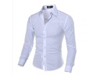 Soft Men Shirt Casual Slim Shirts