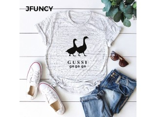 Funny Geese Print T Shirt